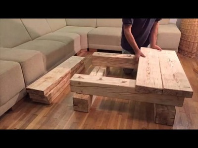 Solid wood coffee table - Home SimanArt