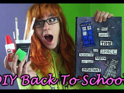DIY Back To School - DOCTOR WHO zošit