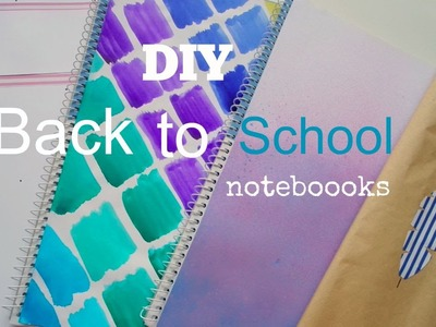 Back To School DIY - Zošity do školy