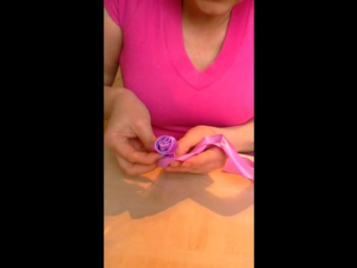 How to make ribbon rose