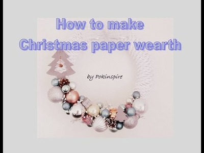 How to make Christmas paper wreath.  Veniec z papiera